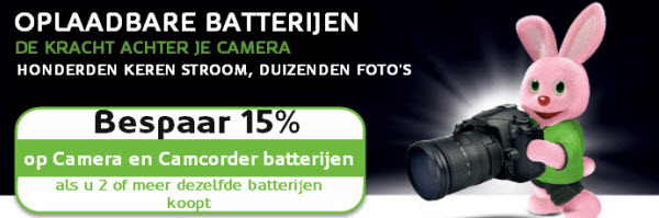 Batterijen, laders en adapters voor digitale camera's