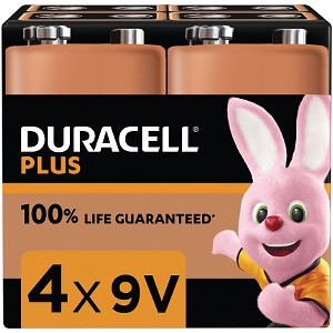 Duracell Plus Power 9V alkaline (4 st)