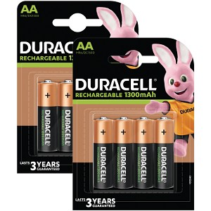 Duracell Stay Charged AA 1300 mAh oplaadbaar (8 st)