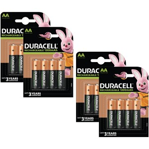 Duracell Stay Charged AA 1300 mAh oplaadbaar (16 st)