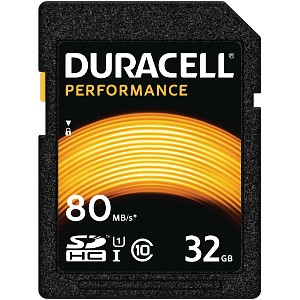 Duracell 32GB SDHC UHS-I geheugenkaart