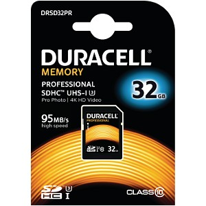 Duracell 32GB SDHC UHS-3 geheugenkaart
