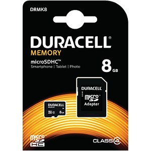 Duracell 8GB microSDHC geheugenkaart inclusief SD adapter