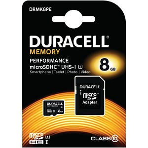 Duracell 8GB microSDHC UHS-I geheugenkaart incl SD adapter