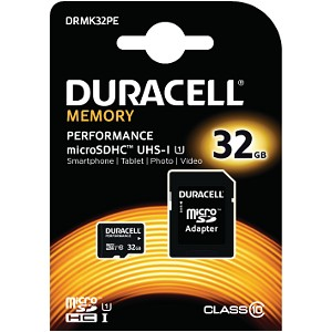 Duracell 32GB microSDHC UHS-I geheugenkaart incl SD adapter