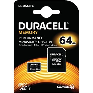 Duracell 64GB microSDXC UHS-I geheugenkaart incl SD adapter