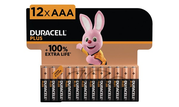 Duracell Plus Power AAA alkaline (12 st)