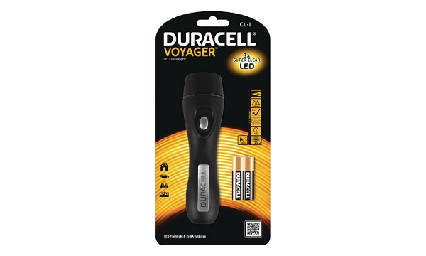 Duracell Voyager Classic 2AA 3LED zaklantaarn (40 mtr)