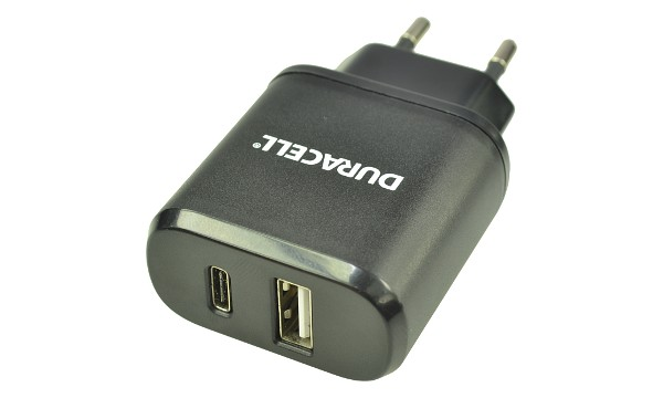 3.0A shared Type-C & USB Mains Charger